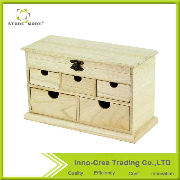 High end kit for ear ring and ring watch storagewooden jewelry box