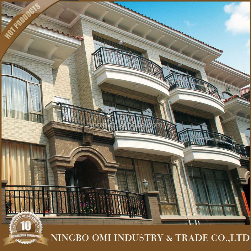 Wrought iron balcony railing/handrail/wrought model italian balcony iron railings designs/iron grill design for balcony