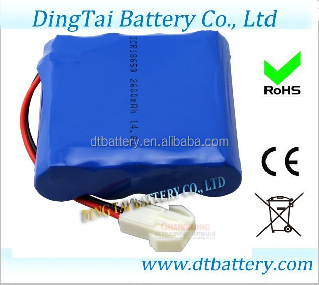 2600mAh battery 4s1p 14.8v lithium ion battery pack