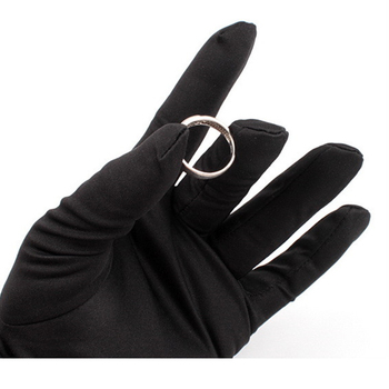 Antibacterial black jewelry microfiber hand gloves