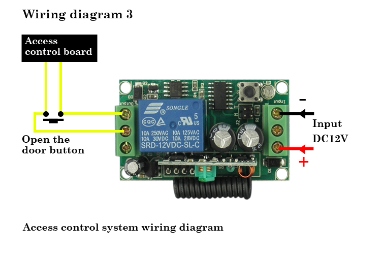 DC12V 1 Channel RF transmitter and receiver Relay Module 50M