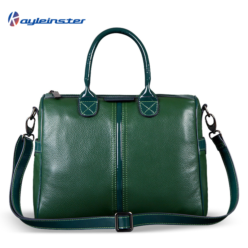 Genuine Leather Embossed Women Handbag Fashion Famous Brand 2015 Winter Green Women Shoulder Bag Vintage Solid Zipper Women Bag