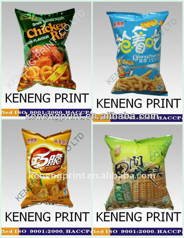 Potato Chips / Nachos Packaging Bags or Film