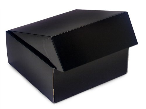 "Decorative Shipping Boxes - Black Gourmet Shipping Boxes 8x8x3"" Auto Lock Boxes - (6 Per Pack) - WRAPS - 51BK"
