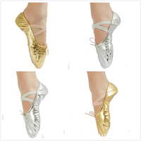 2017 new style folding women soft PU ballet dancing shoes with bag