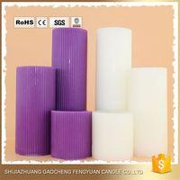 China Manufacturer white unscented 8 pillar candles