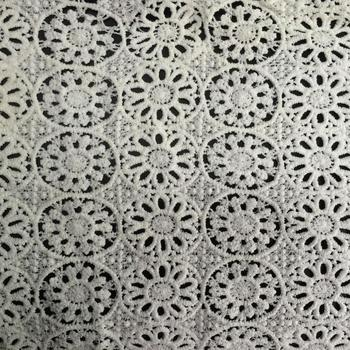 Nice design guipure lace fabric with stones For Uniform BK-FB156