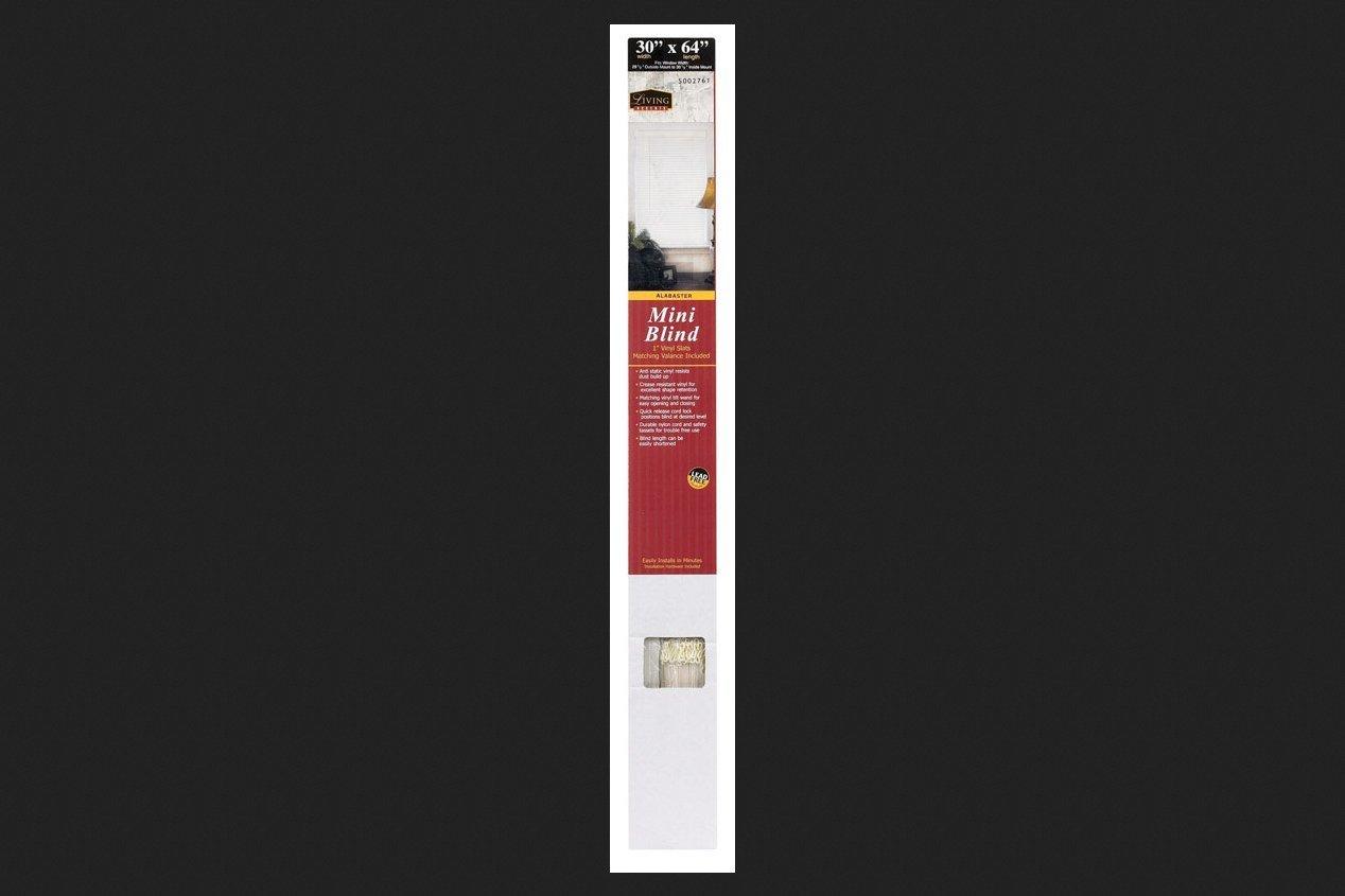 Lotus & Windoware 1-Inch PVC Miniblind, 30 by 64-Inch, Alabaster