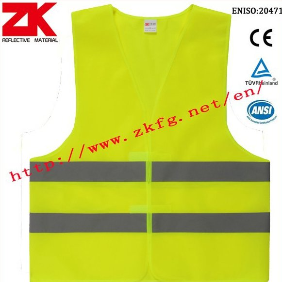 high visibility cheap bike safety vest with EN20471