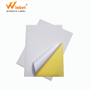 low price custom a4 paper private adhesive white labels blank sheet stickers printing