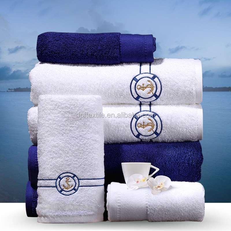 Premium Embroidery Logo 100% cotton hotel Towel