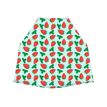 Strawberry Print Premium Stretchy and Spacious Soft Baby Multi-Use Cover Shopping Cart Cover Car Seat Covers