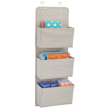 Hanging Wall Organizer Office Supplies Storage Over The Door 3 Pockets File Pocket