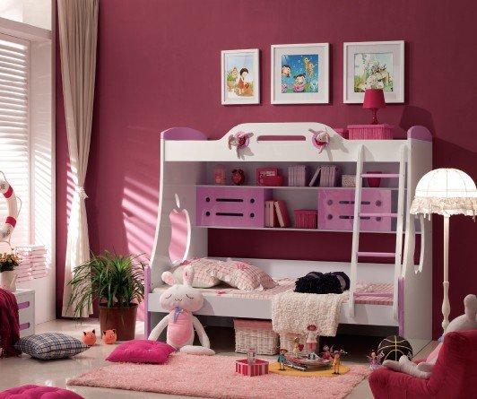 nios camas dobles nios nias rosa litera literas con tobogn