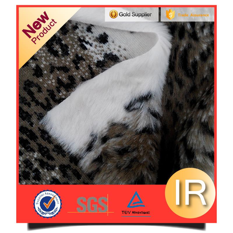 100%acylic jacquard fake fur artificial faux fur fabric