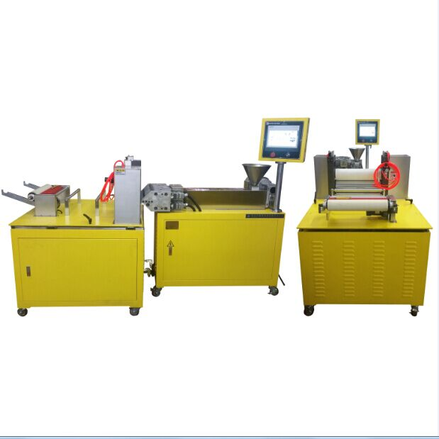 20mm lab single screw extruder for casting film lines for <strong>PP</strong>,TPE