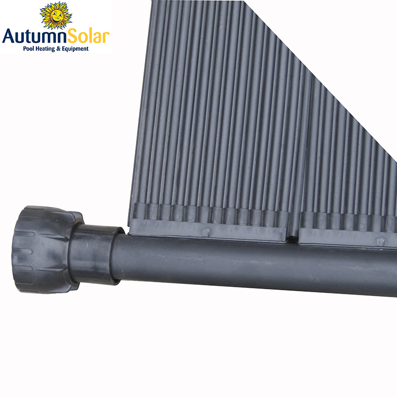 plastic solar pool water heater collectors with uv chlorine resistant