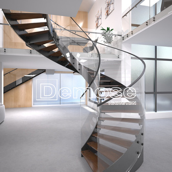 Modern House Wrought Iron Spiral Staircase Design