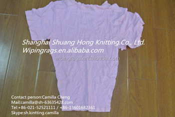 Light Colored 100% Cotton Used T-shirt Rags