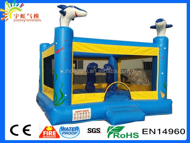 Top sale shark and seahorse animal outdoor new design inflatable bouncer