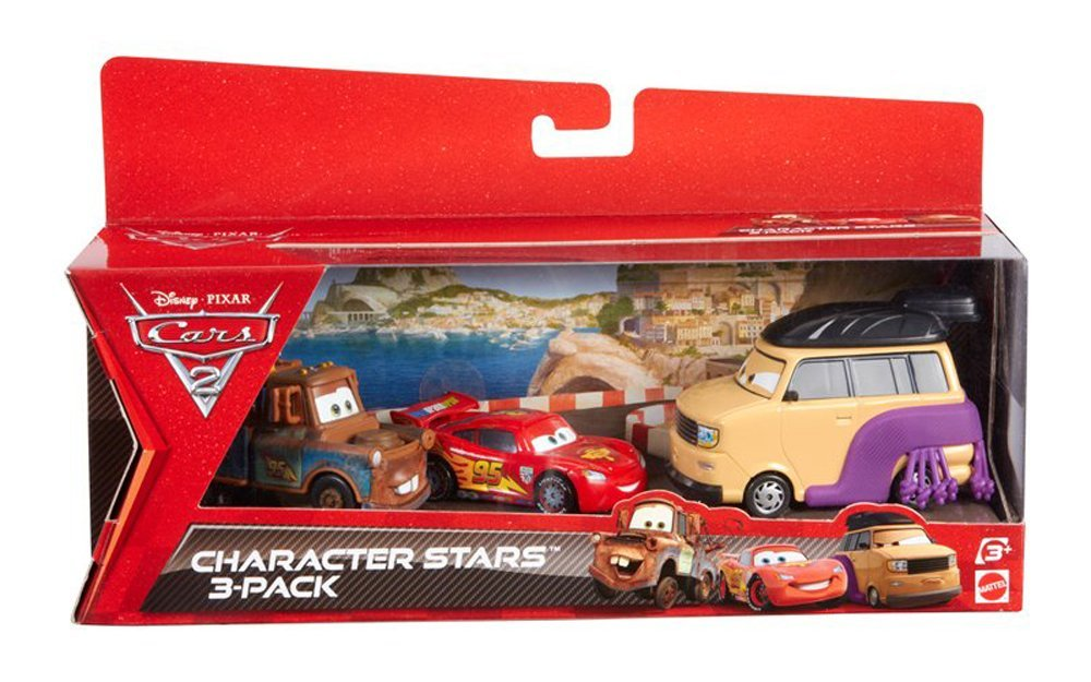 Cars 2 Collector Sumo Wrestler, Mater And Lightning McQueen Vehicle 3-Pack