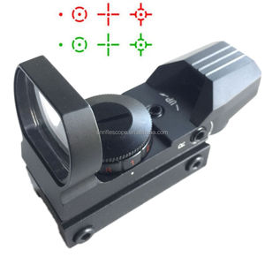 Tactical Reflex Red Green Dot Holographic Sight Scope 4 Type Reticle 20mm Rails