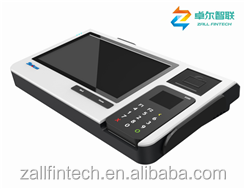 Barcode android touch pos machine with pax d200 wireless pos terminal