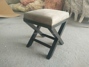 Beautiful Unique Grey Cheap Small Vintage Sitting Step Stool Chair