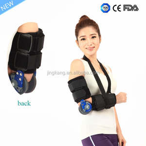 Lightweight hinged arm elbow support brace arm sling arm immobilizer support