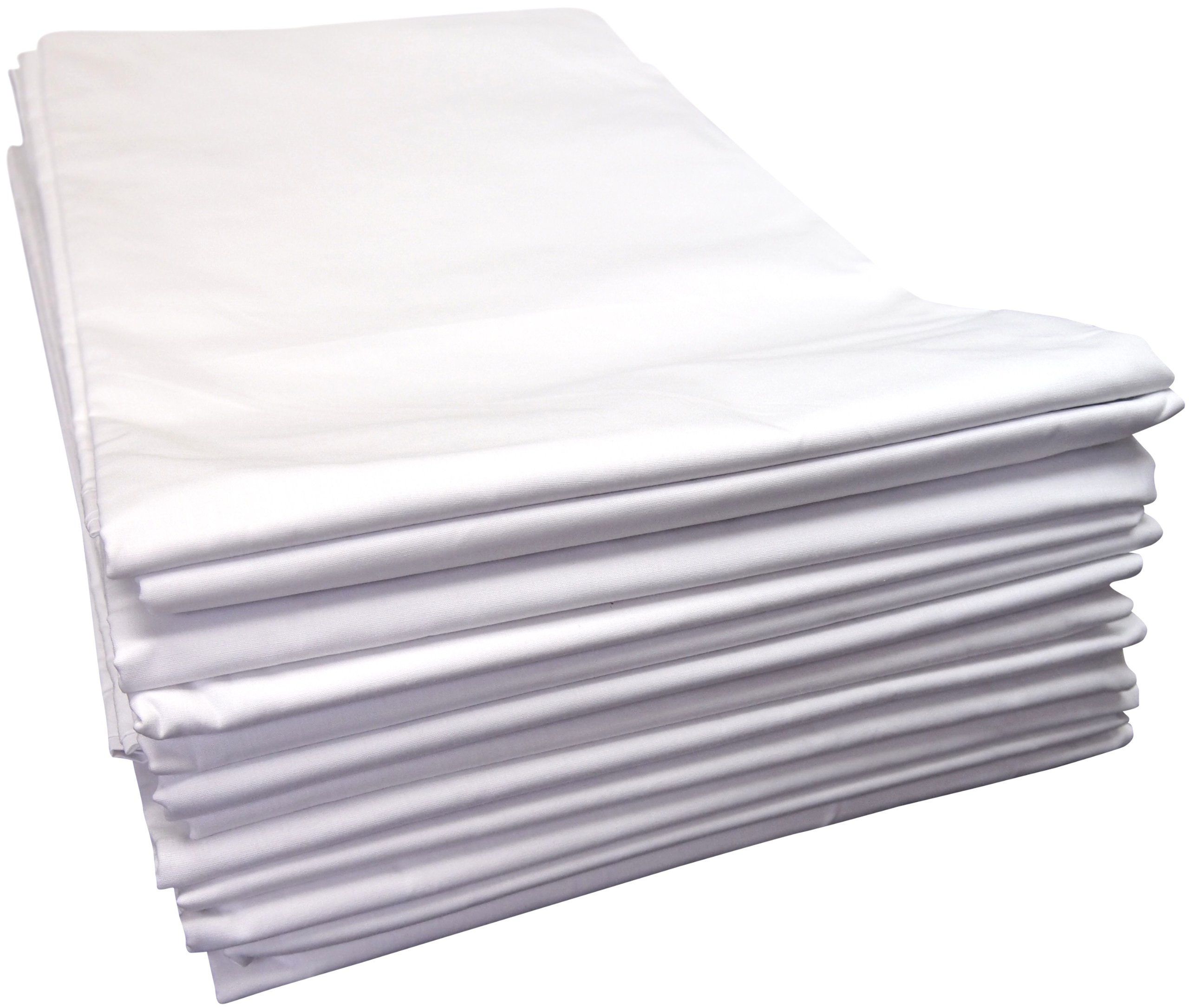 Linteum Textile TWIN FLAT SHEETS 180 Thread Count 66x104 in. 12-Pack White