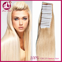Large Stock Top Quality Virgin Hair russian hair double drawn tape hair extensions