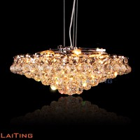 Modern chrome crystal chandeliers with K9 crystal for home 12722