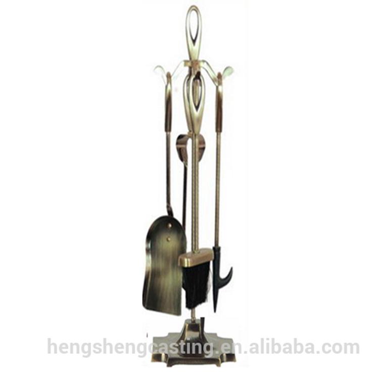 Cheap Antique Brass Modern Cast Iron Fireplace Tools Fireplace