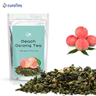 Chinese Organic Custom Bulk Dried Peach Fruit Tie Guan Yin Wulong Oolong Flavoured Tea Blend Blended Loose Tea Cha Chai