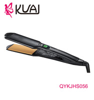 Wide Plate Tourmaline Ceramic Hair Straighteners Flat Irons Adjustable Temperature for Dry or Wet Hair