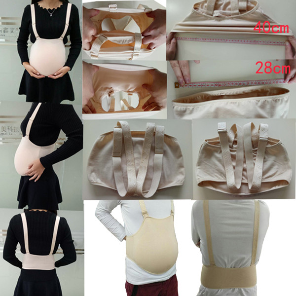 ONEFENG New Products Pregnant Fake Silicone Belly Artificial Cloth Bag Style Belly 2500g For Man Woman Crossdresser