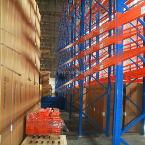 industry teardrop pallet racking with 3.5' clip