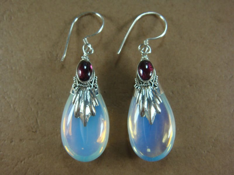 moonstone light p silver earrings dangle moon india jewelry sterling stone luminous rainbow