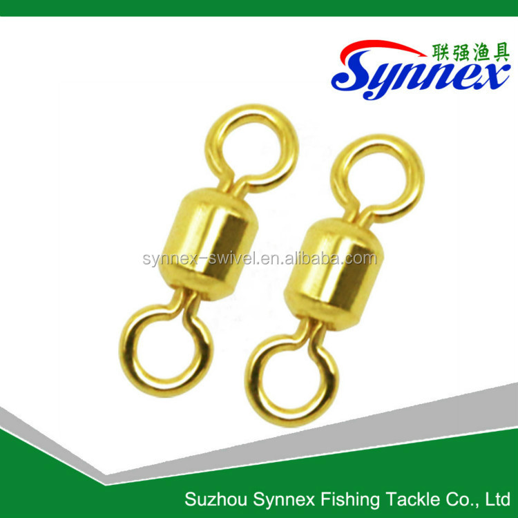 Wholesale Chinese fishing tackle golden rolling swivel