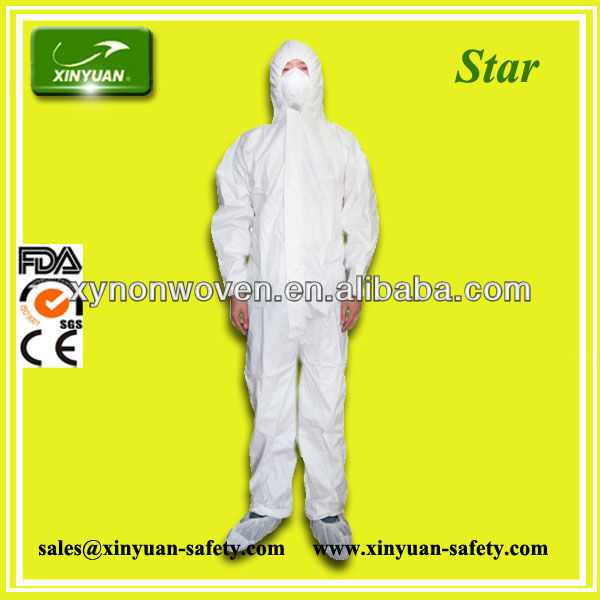 CE certified Cat III TYPE 5/6 SF disposable working coverall on sale