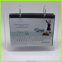 2016 Factory wholesale clear acrylic desk calendar stand