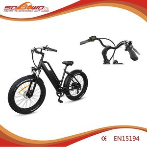 Rear motor motorized bicycle 26 inch fat tire electric dirt bike