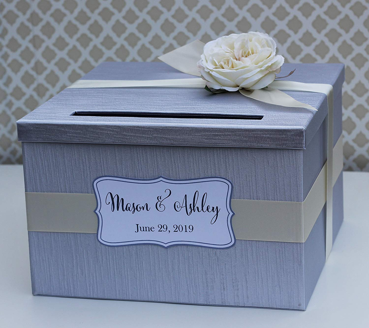 Woodcard Boxes For Wedding Reception Personalized Card Box