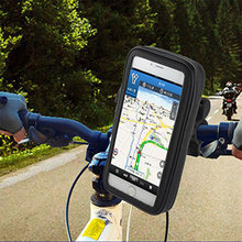 Motorcycle Bicycle Phone Holder Mobile Phone Stand  Support  for iPhone 5 5S 5C 4S 4 GPS  Bike Holder with Waterproof Case Bag