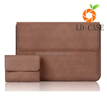 Classic Premium Quality Pattern PU Leather Laptop Zipped Sleeve Case Cover For laptop