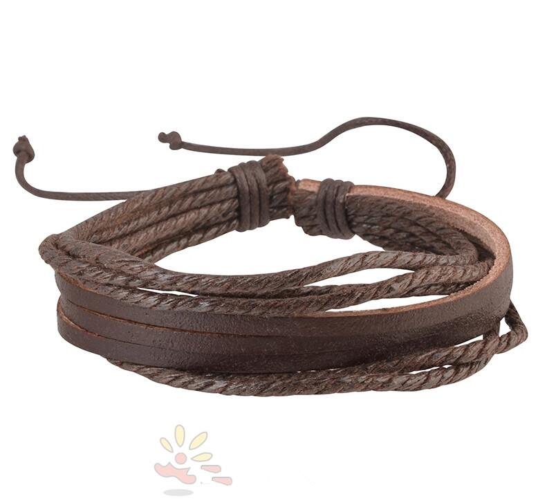 Мода ручной работы из натуральной кожи панк серфер плетеные браслеты для мужчины сеть браслет GracefulExquisite привлекательный