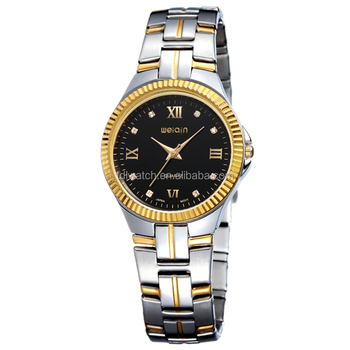 WEIQIN W4300 Luxury Gear Bezel Roman Numerals And Crystal Indexes Japan Movement Brand Watch