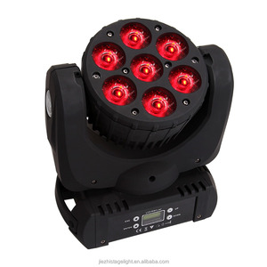 7x10w RGBW 4 in 1 Led Wash small Moving Head Stage Light DMX 512