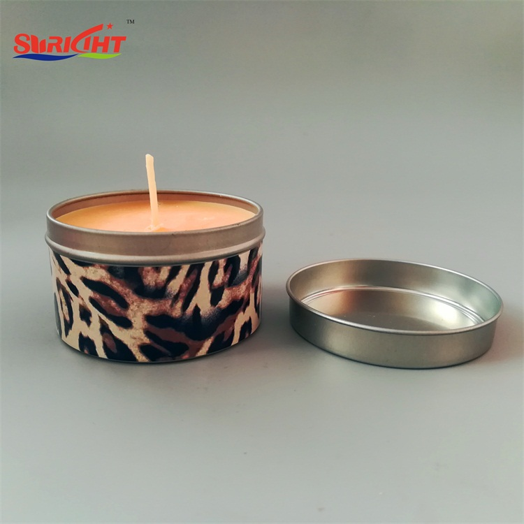 Orange Scented Leopard Center Price Travel Tin Candle