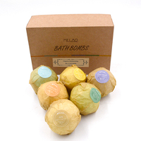 Mini custom Bath Bombs Gift Set private label Ultra Essential Oil Handmade Spa Bombs Fizzies with Natural Ingredients